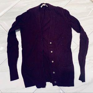 XS purple cardigan